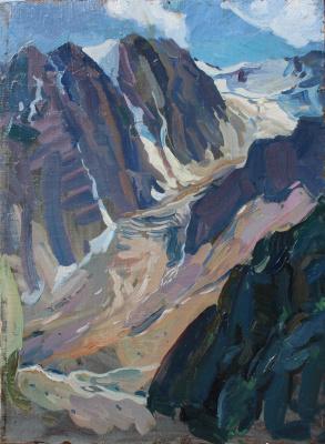 Eugene Butch. A large glacier.Aktru