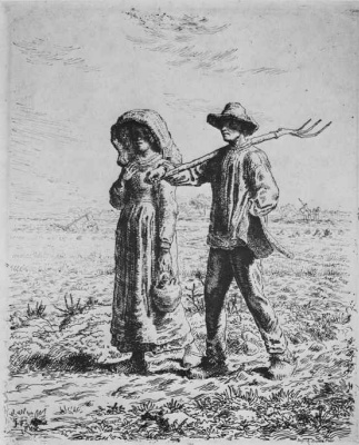 Jean-François Millet. On the way to work