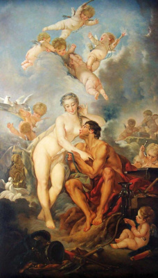 Francois Boucher. The visit of Venus to Vulcan