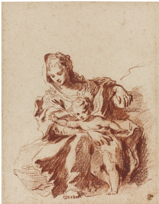 Antoine Watteau. The girl and the child (Sedona)