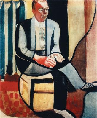 Anatoly Galaktionovich Petritsky. Portrait of the writer M. Doleng