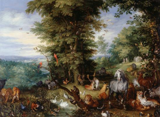 Jan Bruegel The Elder. Adam and eve in the garden of Eden