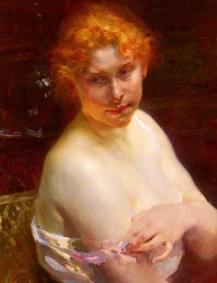 Поль Альберт Бенар. Портрет молодой женщины