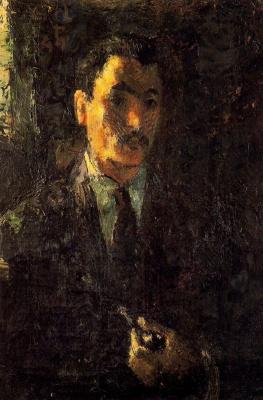 Мануэль Гиль. Мужчина с трубкой