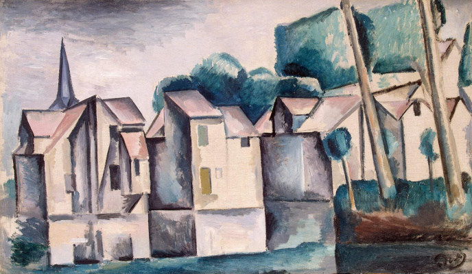 Andre Derain. A house near the water