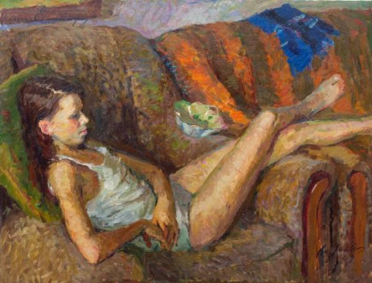 Anatoly Nikitovich Yanev. In the easy chair