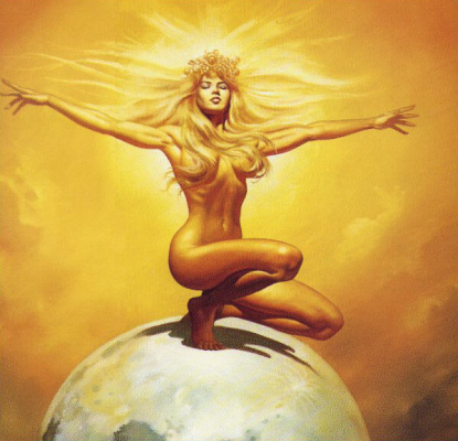 Boris Vallejo (Valeggio). Light hugs