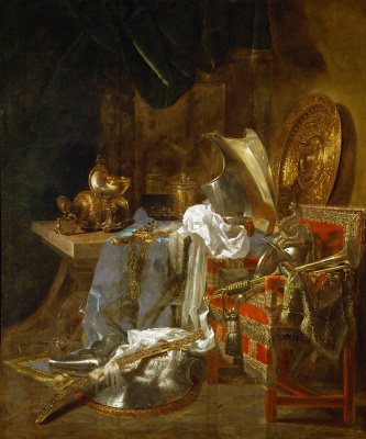 Willem van Aelst. Still life with armor