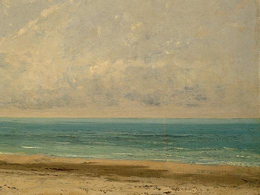 Gustave Courbet. Calm sea