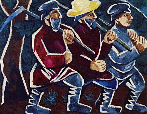 Natalia Goncharova. The reapers