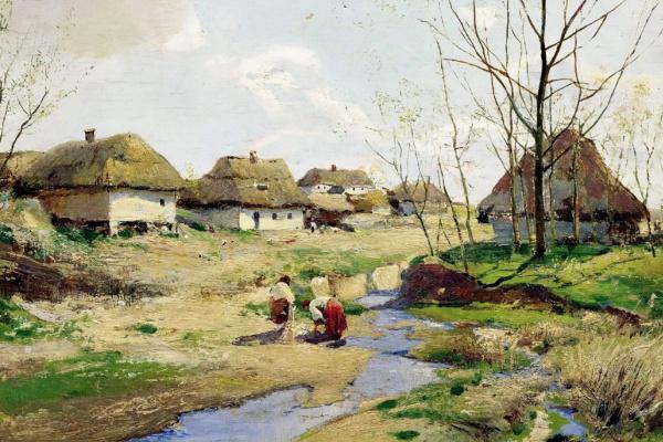 Сергей Иванович Васильковский. Весенний день на Украине