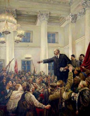 Владимир Александрович Серов. Ленин провозглашает Советскую власть