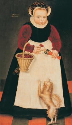 Izak Klas van Swannenurg. Portrait of a girl