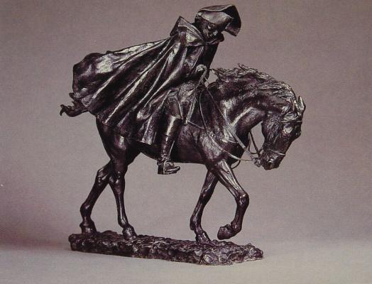Жан-Луи-Эрнест Месонье. Маршал Ней на коне борется с ветром
