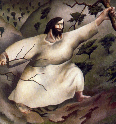 Stanley Spencer. Christ in the wilderness