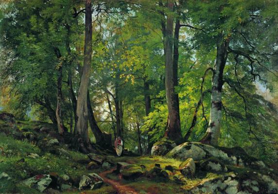 Ivan Ivanovich Shishkin. Beech forest in Switzerland