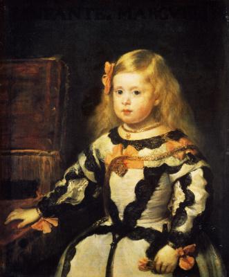 Diego Velazquez. Portrait of the Infanta Margarita