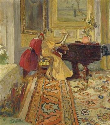 Жан Эдуар Вюйар. Урок фортепьяно, миссис Артур Фонтейн и ее дочь