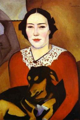 Натан Альтман. Женщина с собакой