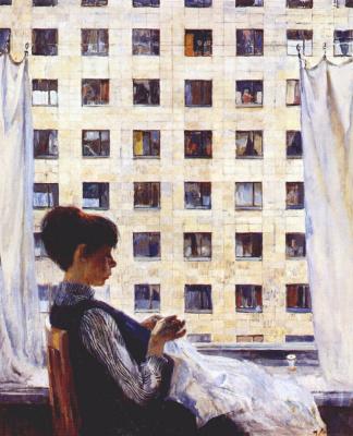 Александр Дмитриевич Романычев. У окна