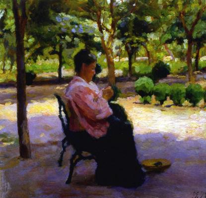"Kiriak Konstantinovich Kostandi. Study for the painting ""Sunny day"""