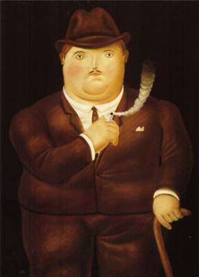 Fernando Botero. Smoking man