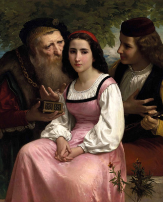 William-Adolphe Bouguereau. Between wealth and love