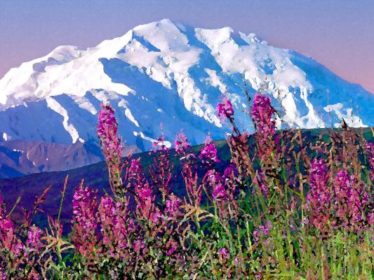 Денали Натионал Парк. Гора Мак-Кинли, Аляска