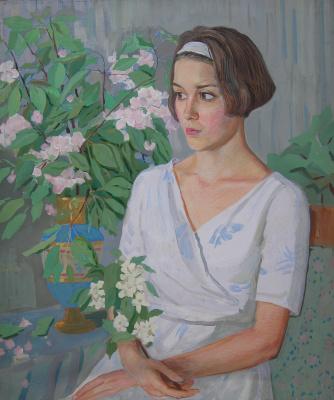 Евгений Александрович Казанцев. Portrait of Galina Nikitishina.