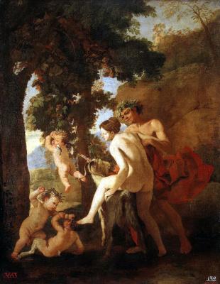 Nicola Poussin. Venus, Faun and putti