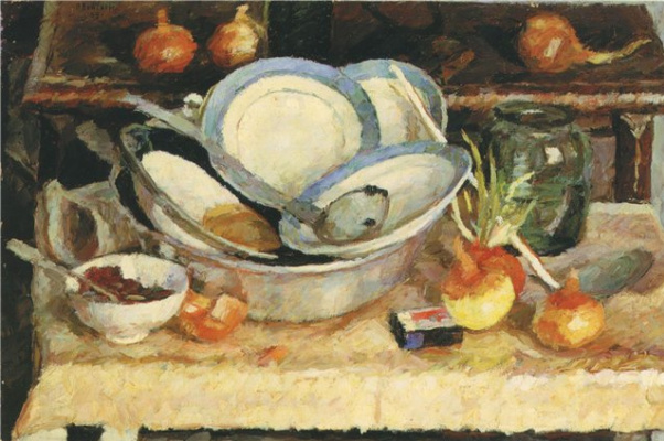 Vladimir Grigorievich Weisberg. Uncleared table