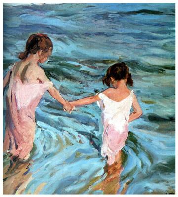 Joaquin Sorolla (Soroya). Girls in the sea