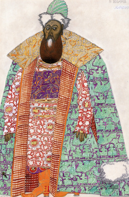 "Lev Samoilovich Bakst (Leon Bakst). Boyar. Costume design for the Opera ""Sadko"""