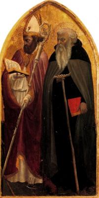 Tommaso Masaccio. Saint Ambrose and Saint Juvenal. Triptych San Jovenale