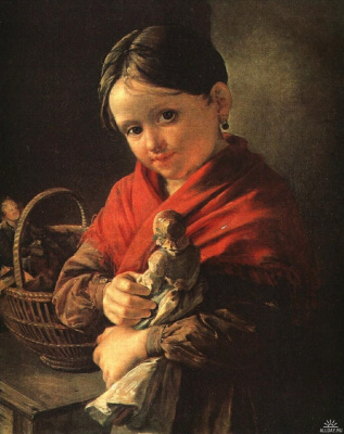 Vasily Andreevich Tropinin. Girl with a doll