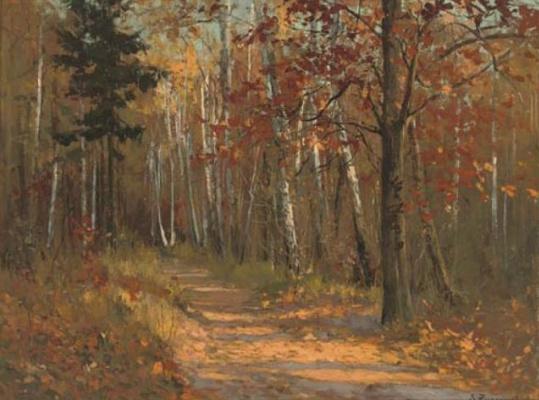 Stanislav Yulianovich Zhukovsky. Autumn forest path