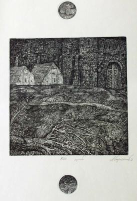 Leonid Valeryevich Stroganov. Landscape with a torn tree