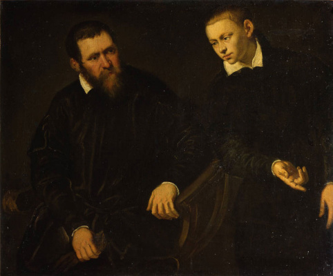 Tintoretto (Domenico Robusti). Portrait of two men