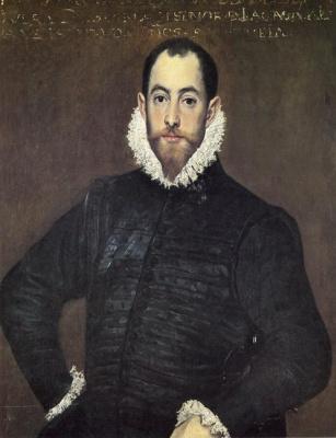 Domenico Theotokopoulos (El Greco). Portrait of a gentleman from Casa de Leiva