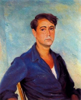 Хосе де Тогорес. Портрет мужчины в синей рубашке