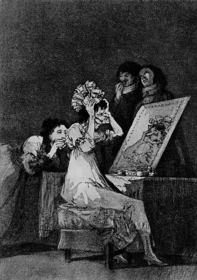 """Francisco Goya. A series of """"Caprichos"""", page 55: To the death"""