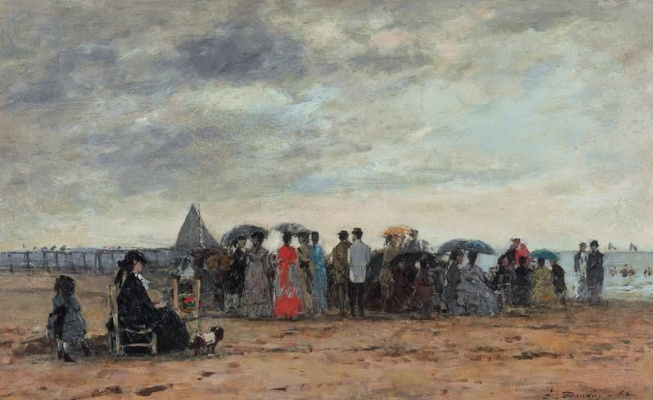 Eugene Boudin. The Beach Of Trouville