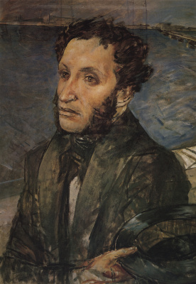 Kuzma Sergeevich Petrov-Vodkin. Pushkin in St. Petersburg