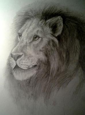 Julia Sergeevna Bochkareva. Lion daydreams