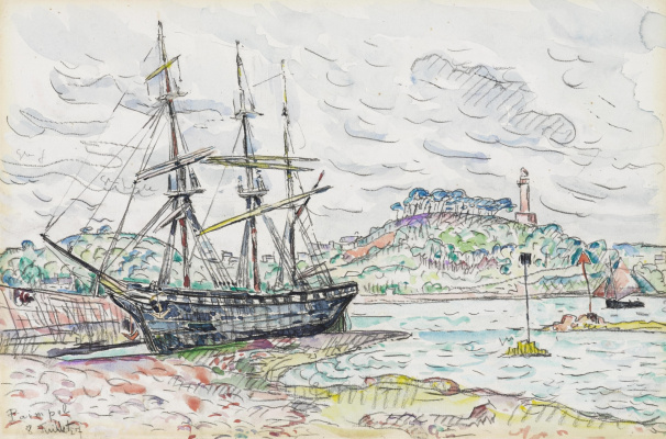 Paul Signac France 1863 - 1935. Pempole 1927, July 8.