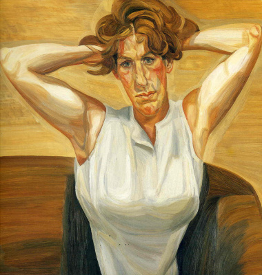 Lucien Freud. Figure with bare arms