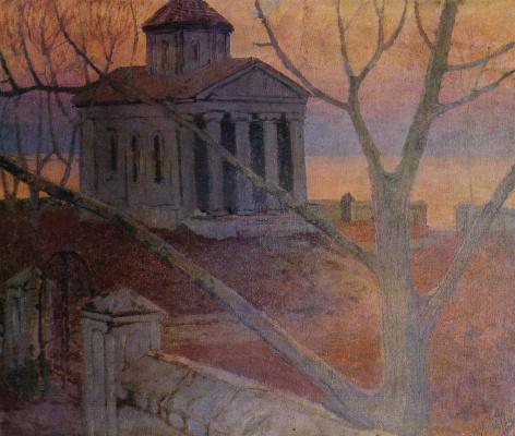 Mikhail Pelopidovich Latri. Temple sur la mer