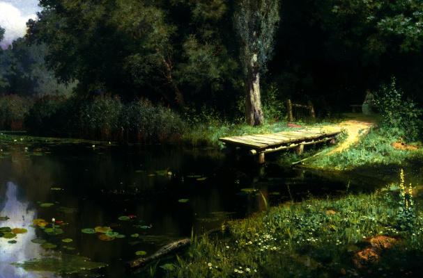 Vasily Dmitrievich Polenov. Overgrown pond