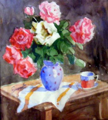 Yosif Josifovich Garani. Still life with roses