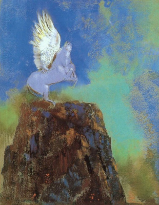 Odilon Redon. Pegasus